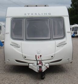 STERLING ECCLES JEWEL 2010 *FIXED BED* 4 BERTH CARAVAN