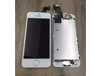 iphone 5s lcd black and white with free fitting and tempered glass just in £25