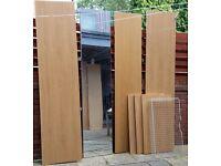 Ikea PAX wardrobe with 1 shelf, 1 basket, 1 mirror door. Very tall 236cm. 100cm wide. Used conditon