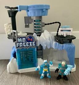Imaginext DC Batman and Mr Freeze HQ