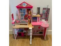 Barbie complete Home Set with Pool plus Car and Donut Float
