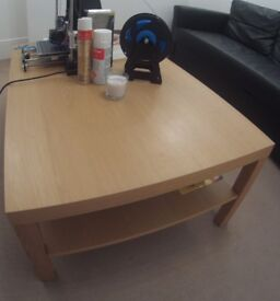 Living room table with storage space