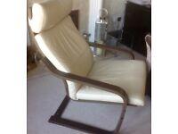 IKEA Poang armchair, rocker with footstool