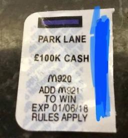 McDonalds monopoly NEED MAYFAIR M921 WILLING TO SPLIT 100K