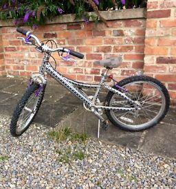 "Kids bike 20"" wheels, skull and crossbones"