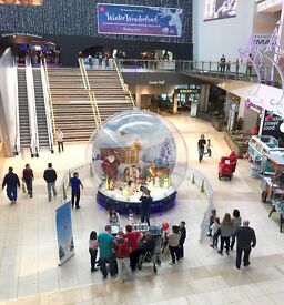 Event Staff Wanted, Christmas Snow Globe, The Centre MK, From 10th Nov - 2nd Jan