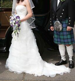 Gorgeous D'zage White Wedding Dress Size 8 - 10