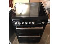 HOTPOINT Ceramic Plate Black Electric Cooker 60cm wide & Fully Working Order