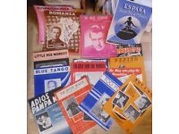 LOT SHEET MUSIC,37 in all.Easy listening,Bands. £15.Bargain.