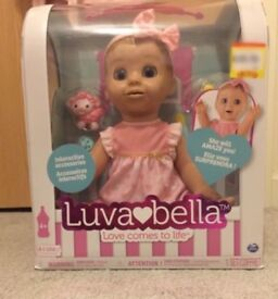 New in hand Blonde Luvabella Doll
