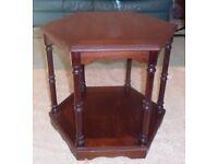 Hexagonal side /lamp or bedside table
