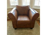 DFS Leather Armchair