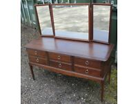 Stag Minstrel dresser chest with triple mirror