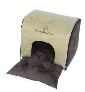 NEW Petego Soft Deck Pet House and Bed, Sage/Espresso, Small