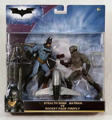 Stealth Wing Batman vs. Rocket Pack Firefly Action Figure Set ~FREE CONT US - Firefly Wings
