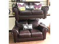 2+2 seater leather sofas