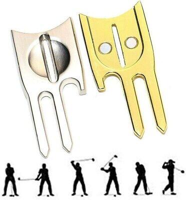 6 in 1 Golf Divot Tool Repair Switchblade Tool Ball Marker Holder Groove Cleaner