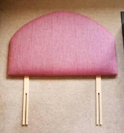 Pink & grey single bed headboard