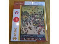 New but rare Flying at Hendon 1000 Jigsaw by Tony Sarg