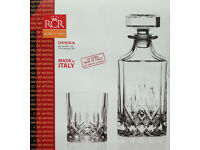 *** Beautiful set of * 6 Whiskey glasses * and decanter botte ** RCR Opera®