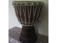 Djembe Local Malina Wood 41cm High 28cm Head Genuine Handmade Gambia Fair Trade New