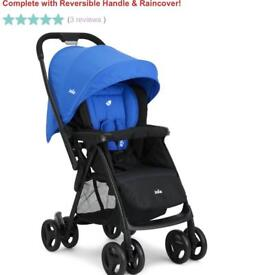 Joie stroller blue pushchair. Used only a handful of times