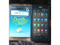 ASUS Zenfone + £10 sim card + 32gb memory card