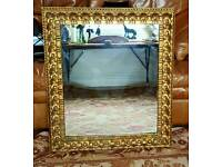 Beautiful Vintage Gilt Framed Mirror with Decorative Detail