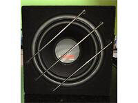 "Rainbow Hammer 12"" subwoofer in carpeted box 400W. Very good condition!"