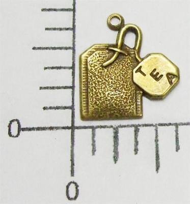 52763         6 Pc. Brass Oxidized Tea Bag Charm Brass Jewelry Finding  SALE