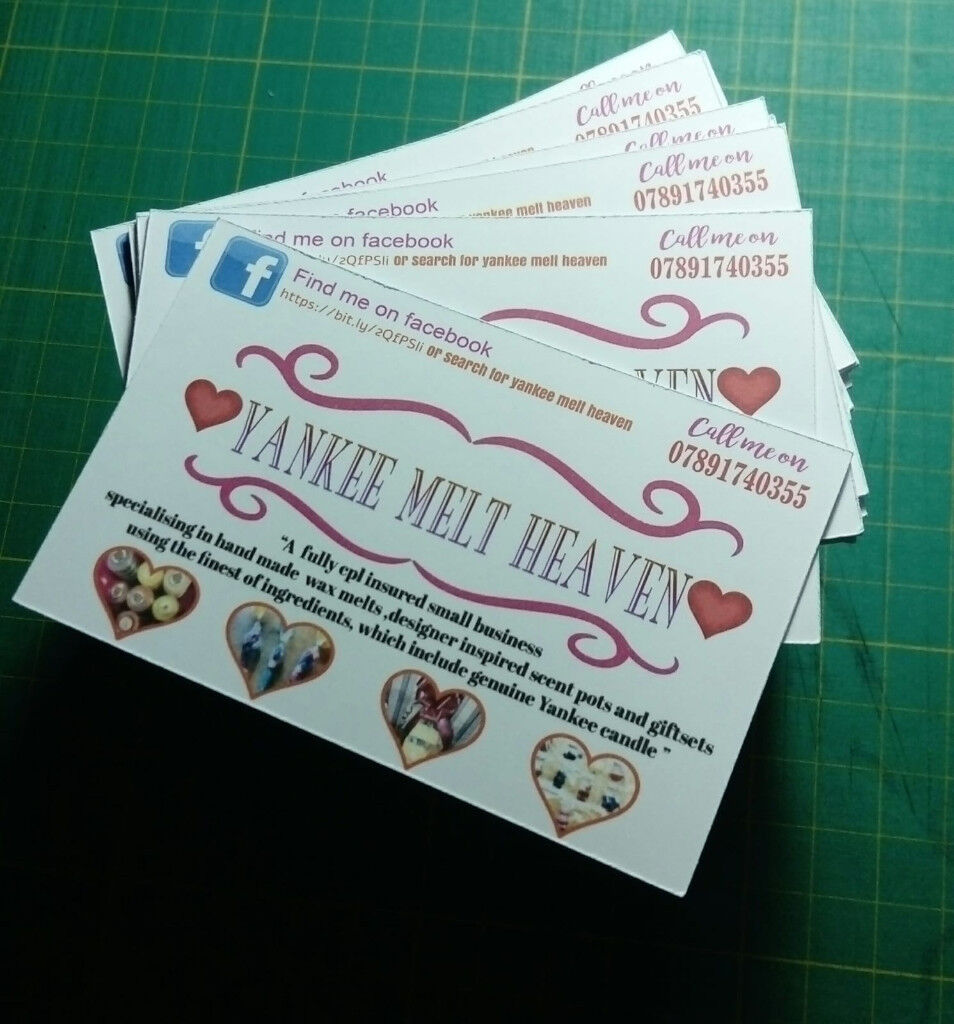 Personalised Business Cards 100 In Linthwaite West Yorkshire