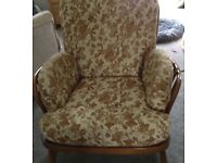 Pair of Ercol, Windsor jubilee, vintage, mid century armchairs. Preowned
