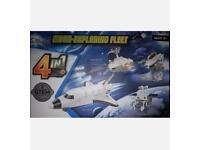 """BRAND NEW"" Kids Robert DIY Kit, Moon-Exploring Fleet 4in1 Game"