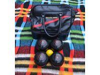 Set of bowling balls plus extras