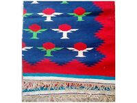 New Handmade double sided cotton Rug - Tomato pattern