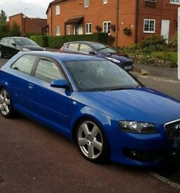 Audi A3 2.0 TDI 170 S Line (rare S3 blue) *two tone leather seats *remapped