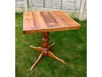 Small handmade table top ONLY - reclaimed timbers - Can deliver locally