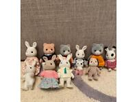 Sylvanian family toys and figures