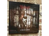 Framed, Hand signed Corey Taylor 5: The Gray Chapter, Slipknot Vinyl Album LP.