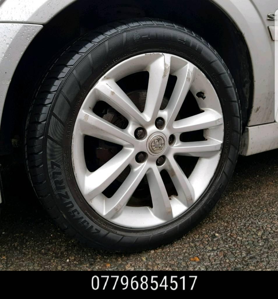 17 Inch Vauxhall Vectra Sri Alloy Wheels & Tyres - 5x110 saab astra alloys  - | in High Wycombe, Buckinghamshire | Gumtree