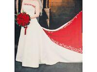 Wedding Dress White/Red Details but Honeymoon leaving dress