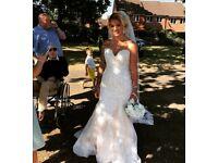 Beautifully detailed size 10 wedding dress