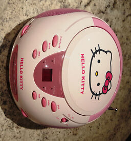 Hello Kitty CD Boombox with AM/FM Stereo Radio.