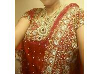 Red Saree with Designer Blouse