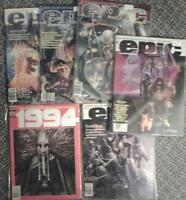 18 different 1994 and Epic Illustrated fantasy magazines 1980-81