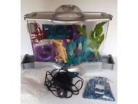 Vivo Fish Tank plus Gravel Fish Gym and Water Treatment Stuff