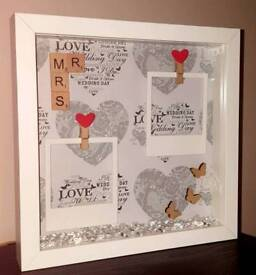 Mr and Mrs frame perfect wedding/engagement gift