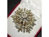 Women's 4.8 carat Diamond cocktail ring 14 carat gold