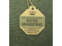 Goodwood Revival Sunday 9th September 2018 Roving Grandstand Lapel Badge