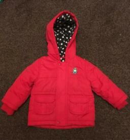 Boys/girls red coat jacket Age 9 -12 Months TU